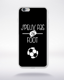 Coque j'peux pas j'ai foot 1 compatible iphone 6 transparent