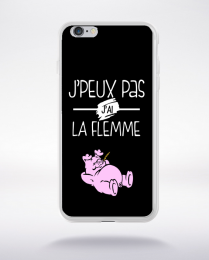 Coque j'peux pas j'ai la flemme 10 compatible iphone 6 transparent