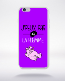 Coque j'peux pas j'ai la flemme 2 compatible iphone 6 transparent