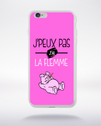 Coque j'peux pas j'ai la flemme 4 compatible iphone 6 transparent