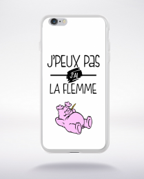 Coque j'peux pas j'ai la flemme 9 compatible iphone 6 transparent