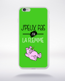 Coque j'peux pas j'ai la flemme 6 compatible iphone 6 transparent