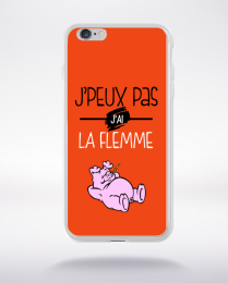 Coque j'peux pas j'ai la flemme 5 compatible iphone 6 transparent