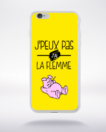 Coque j'peux pas j'ai la flemme 8 compatible iphone 6 transparent