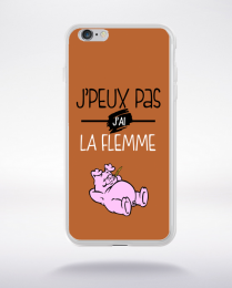 Coque j'peux pas j'ai la flemme 3 compatible iphone 6 transparent