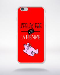 Coque j'peux pas j'ai la flemme 1 compatible iphone 6 transparent