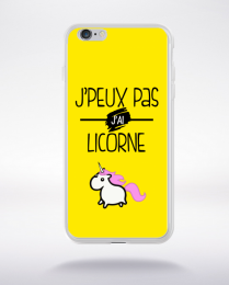 Coque j'peux pas j'ai licorne 8 compatible iphone 6 transparent