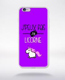 Coque j'peux pas j'ai licorne 2 compatible iphone 6 transparent