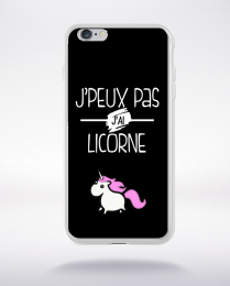 Coque j'peux pas j'ai licorne 9 compatible iphone 6 transparent