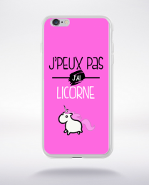 Coque j'peux pas j'ai licorne 4 compatible iphone 6 transparent