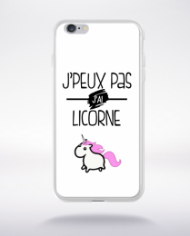 Coque j'peux pas j'ai licorne 10 compatible iphone 6 transparent