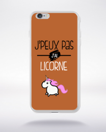Coque j'peux pas j'ai licorne 3 compatible iphone 6 transparent