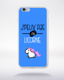 Coque j'peux pas j'ai licorne 7 compatible iphone 6 transparent