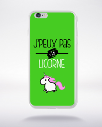 Coque j'peux pas j'ai licorne 6 compatible iphone 6 transparent