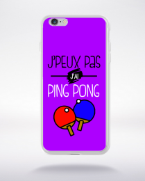 Coque j'peux pas j'ai ping pong 5 compatible iphone 6 transparent