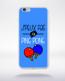 Coque j'peux pas j'ai ping pong 10 compatible iphone 6 transparent