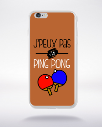 Coque j'peux pas j'ai ping pong 6 compatible iphone 6 transparent