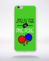 Coque j'peux pas j'ai ping pong 9 compatible iphone 6 transparent