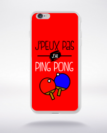 Coque j'peux pas j'ai ping pong 4 compatible iphone 6 transparent