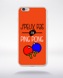 Coque j'peux pas j'ai ping pong 8 compatible iphone 6 transparent