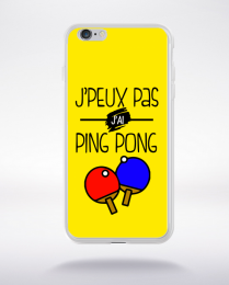 Coque j'peux pas j'ai ping pong 3 compatible iphone 6 transparent