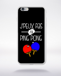 Coque j'peux pas j'ai ping pong 1 compatible iphone 6 transparent