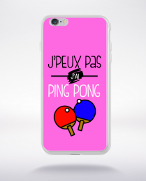 Coque j'peux pas j'ai ping pong 7 compatible iphone 6 transparent