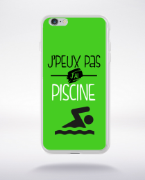 Coque j'peux pas j'ai piscine 9 compatible iphone 6 transparent