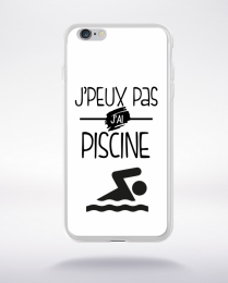 Coque j'peux pas j'ai piscine 2 compatible iphone 6 transparent