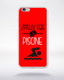 Coque j'peux pas j'ai piscine 4 compatible iphone 6 transparent