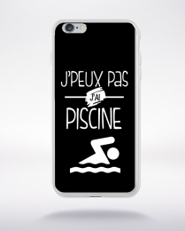 Coque j'peux pas j'ai piscine 1 compatible iphone 6 transparent