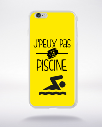 Coque j'peux pas j'ai piscine 3 compatible iphone 6 transparent