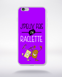 Coque j'peux pas j'ai raclette 3 compatible iphone 6 transparent