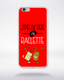 Coque j'peux pas j'ai raclette 2 compatible iphone 6 transparent