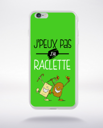 Coque j'peux pas j'ai raclette 7 compatible iphone 6 transparent
