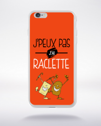 Coque j'peux pas j'ai raclette 6 compatible iphone 6 transparent