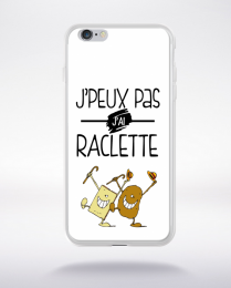 Coque j'peux pas j'ai raclette 10 compatible iphone 6 transparent