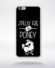 Coque j'peux pas j'ai poney 1 compatible iphone 6 transparent