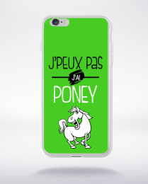 Coque j'peux pas j'ai poney 9 compatible iphone 6 transparent