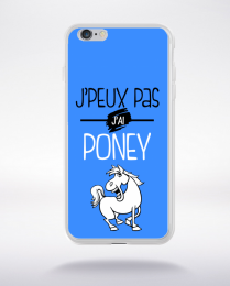 Coque j'peux pas j'ai poney 10 compatible iphone 6 transparent