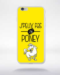 Coque j'peux pas j'ai poney 4 compatible iphone 6 transparent