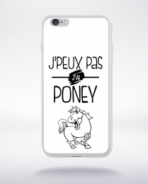 Coque j'peux pas j'ai poney 2 compatible iphone 6 transparent