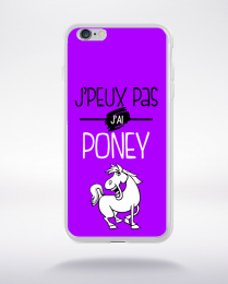 Coque j'peux pas j'ai poney 5 compatible iphone 6 transparent