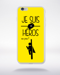 Coque je suis un heros ou pas 13 compatible iphone 6 transparent