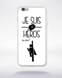 Coque je suis un heros ou pas 12 compatible iphone 6 transparent