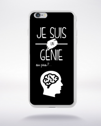 Coque je suis un genie ou pas 11 compatible iphone 6 transparent