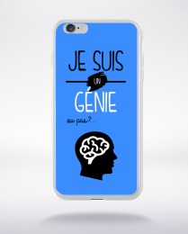 Coque je suis un genie ou pas 20 compatible iphone 6 transparent