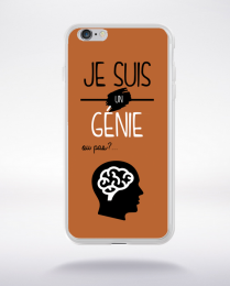 Coque je suis un genie ou pas 16 compatible iphone 6 transparent