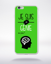 Coque je suis un genie ou pas 19 compatible iphone 6 transparent