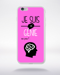 Coque je suis un genie ou pas 17 compatible iphone 6 transparent